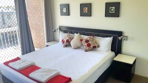 Two bedroom apartment King Sized Bed in Master Bedroom